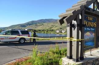 Emergency responders from Lake Dillon Fire-Rescue, Silverthorne PD, Colorado State Patrol, Summit County Sheriff's Office, Search & Rescue and SC Ambulance Service were all at The Ponds at Blue River housing development in Silverthorne early Sunday evening to scour North Pond on a 911 call of a reported drowning.