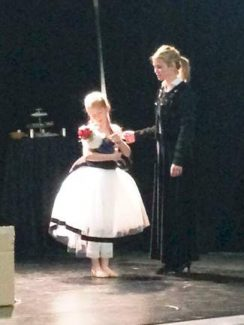"""Kayla Pazin as Clara and Tanja Sussman as Clara's mother star in """"The Nutcracker Suite,"""" presented by the Summit Community Orchestra and Summit School of Dance on Saturday, Dec. 7, at Warren Station in Keystone."""