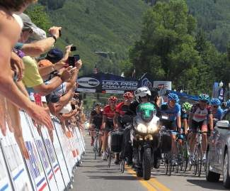 Stage 1 of the 2013 USA Pro Challenge got underway in Aspen Monday. The race comes to Breckenridge Tuesday.