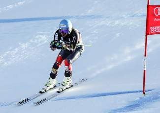 Ted Ligety, of the United States, passes a gate while skiing through the Abyss section of the Birds of Prey World Cup downhill course Thursday in Beaver Creek.