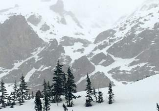 Day one of the James Peak West Face project in late May was cut short by a snowstorm that quickly rolled into the Araphoe National Forest and dumped three inches per hour.