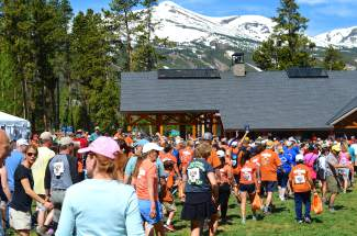 The sun shined brightly as hundreds streamed out of Breckenridge's Carter Park on Saturday.