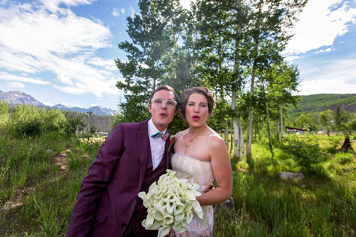 A couple enjoys a cannabis-infused wedding near SIlverthorne last year.