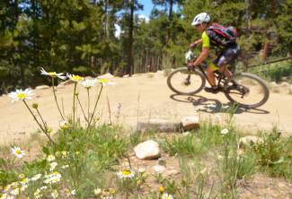A rider weaves through the Carter Park switchbacks between laps at the 2016 Breck 100 mountain bike race on July 16. More than 350 mountain bikers from across the state and nation came for a full day of riding on three local loops in three divisions: a 32-mile lap on the Colorado Trail, a 68-mile race on the CT and Boreas Pass to Como, and the full 100-mile race on both loops with an early-morning loop on Wheeler Pass.