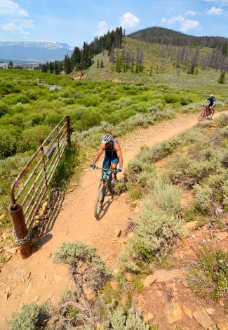 A rider winds along the singletrack during the Colorado Trail portion of the 2016 Breck 100 mountain bike race on July 16. More than 350 mountain bikers from across the state and nation came for a full day of riding on three local loops in three divisions: a 32-mile lap on the Colorado Trail, a 68-mile race on the CT and Boreas Pass to Como, and the full 100-mile race on both loops with an early-morning loop on Wheeler Pass.