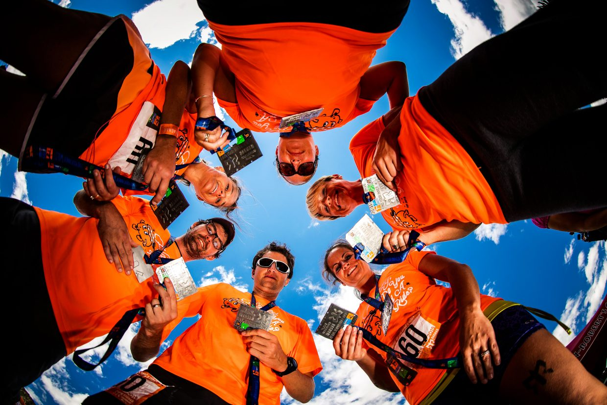 A Ragnar Relay team gets together before starting the first leg of their 190-mile journey from Copper Mountain to Aspen Snowmass in 2015. The event returns this year on Friday and Saturday when teams of 6 or 12 begin at Copper Mountain.