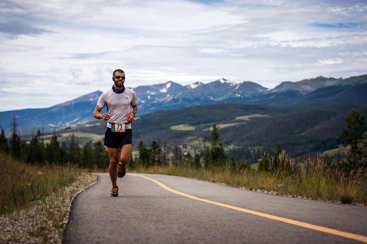A lone Ragnar Relay runner passes by the dry slopes of Snowmass during the 2015 event. The 190-mile relay race returns to Summit County this Friday and Saturday when teams take off from Copper Mountain en route to Aspen Snowmass.