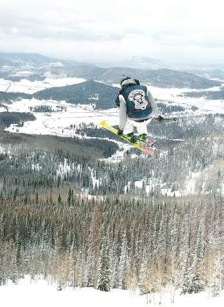Eagle resident Jim Swanson, a longtime member of the Ravinos, at Hans Peak outside of Steamboat Springs in 2009.