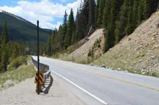 South of the Climax Mine, a segment of State Highway 91 known as