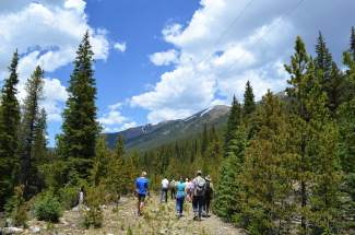 A small tour group consisting of members of Summit County government, the U.S. Forest Service and Great Outdoors Colorado (GOCO) toured the county's proposed 3-mile Fremont Recpath on Monday, June 20.