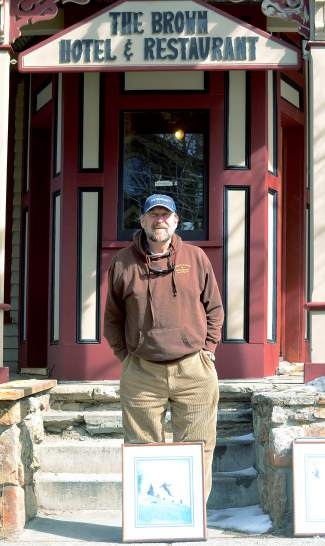 Mike Cavanaugh in front of the Brown Hotel in Breckenridge, where he's been proprietor since buying the hotel in 1985. He's now renovating the building to be a music venue — and discovering Breck history in the process.
