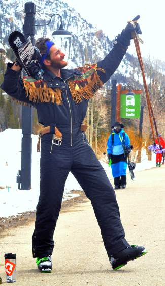 Custom onesie worth $140: Every onesie at the Basin on Gaper Day had a story, but Dean Spirito's custom Head suit takes the prize. The 29-year-old Keystone local found it in Taos, New Mexico about 5 years ago. The asking price: $140. Why? As he says,