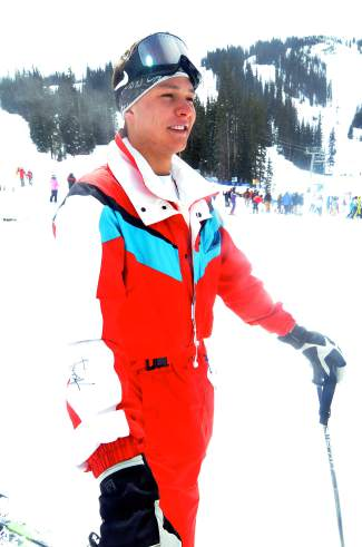 Wearing Bobby Brown on his sleeve:21-year-old William Haass of Denver has been wearing his dad's vintage track-suit onesie for years, and it's come in handy for more than Gaper Day. At an event shortly after Vail legend Shane McConky's death, Haass was wearing the suit and convinced Breck's Bobby Brown to sign the sleeve.