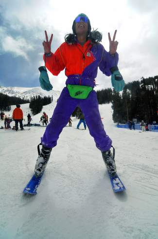 Cheapest costume on the slopes: When Mack Voelker of Silverthorne needed a Gaper Day outfit, he knew the local thrift shops would be picked clean. He took his chances in Idaho Springs and came across retro gold: a multi-colored Obermeyer suit for $3, plus a $5 bill in the pocket.