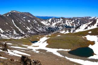 Sights along the Argentine Pass trail en route to Grays Peak and Torreys peak, the only twin 14ers in Summit County. The trailhead is rarely used and more difficult than the one found in Clear Creek County.