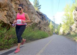A runner passes rock formations in Tenmile Canyon during the 2016 Run the Rockies road race on June 4. The 40th anniversary of the June 10K and half marathon drew more than 400 runners from across Colorado and the West.