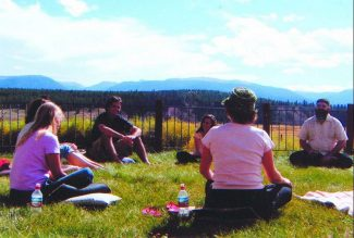 Summit Daily/Kimberly NicolettiWriters convene at the Rocky Mountain Contemplative Writing Retreat near Winter Park in September.