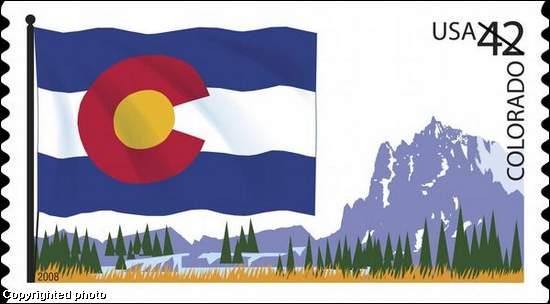 Rocky Mountain NewsA New 42 Cent Stamp Featuring The Colorado State Flag Was Unveiled On Day June 14 It Shows Alongside Snowy Peaks