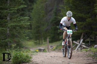 Special to the Daily/Devon BaletA racer in the Breck Epic cruises the Summit trails Tuesday. The course was sabotaged to direct riders down the wrong trail, but most have agreed the times should stand.