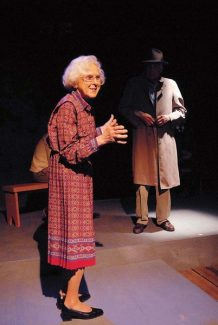 """Scene from """"Hidden"""" at the Backstage Theatre in Breckenridge in March of 2007."""