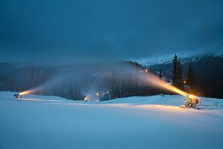 Special to the Daily /Dave CamaraSnowmaking at A-Basin