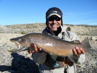 special to the dailyFor all those who think winter isn't for fishing, take a look at this. Alan Gallegos of Silverthorne welcomed in the New Year by reeling in a 27-inch long (14-inch girth) brown trout on the Colorado River. 'It was a wonderful fight and an incredible blessing,' Gallegos said.