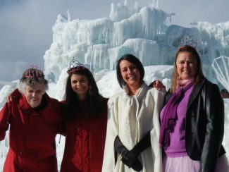 Special to the DailyThe Rotary Ice Melt Ice Princesses posed for a photo at the Silverthorne Ice Castle recently. From left are Nancy Follett, Michaela Miller, Jennifer McConnell and Kristina Klug. Not pictured: Hayley Lotan.