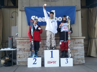 special to the dailyTeam Breck athlete Mark Nowakiwsky atop the slopestyle podium at junior nationals in Steamboat this week.