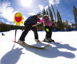 Special to the Daily/ Dustin SchaeferThe warm weather may not be great for snow conditions, but visitors sure like the sunny days for enjoying the Colorado Rockies. Here, a ski lesson underway recently at Loveland Ski Area.