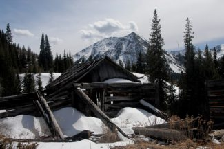 Special to the Daily/Kim FenskeCabin at the base of Huron Peak with Granite Peak in the background
