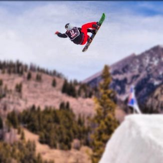 special to the dailyBrett Moody launches out of the pipe at USASA Nationals at Copper Mountain earlier this month.