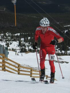 Special to the daily/Richard BairdSummit local Greg Ruckman charges to the top of Peak 8 on his way to winning his second consecutive Imperial Challenge at Breckenridge Ski Resort Saturday.