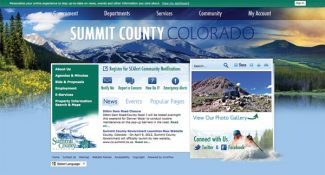 The home page of the new Summit County Government website, which was launched earlier this week.