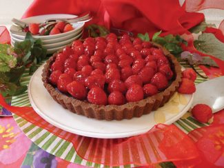 Special to the DailyRaspberry & chocolate ganache tart