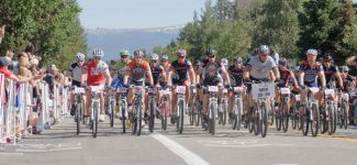 Riders in the men's 35-39 division take off at the start of the Firecracker 50 mountain bike race on Main Street Breckenridge in 2012. The 16th edition of the race returns on July 4, beginning at 9 a.m. to start the Independence Day parade.