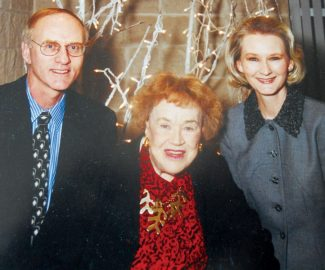 Randy and Christy Rost spend time with Julia Child, whom Rost honored in a recent series of culinary tributes. Child was a supporter of Rost, who is known for her annual PBS special, 'A Home for Christy Rost: Thanksgiving.'