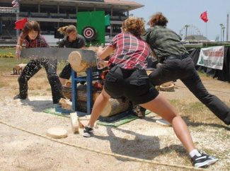 Special to the DailyLast year's lumberjacks will be replaced this year by Timber Tina's World Champion Lumberjills: Chics with Axes. The all-female show sawing, ax throwing and log rolling among other events.