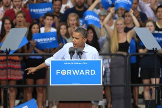 President Barack Obama speaks during campaign stop on the campus of the University of Colorado in Boulder, Colo., on Sunday, Sept. 2, 2012. (AP Photo/David Zalubowski)