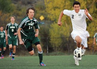 Special to the Daily/Steamboat PilotSummit High's Daniel McFadden and Steamboat's Michael Wong