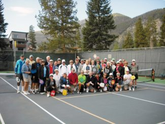 Special to the Daily/Sandy ReetzRecently, these 42 pickleball players participated in a 'fun tournament' in Frisco. They have been playing 'the fastest growing sport in America' all summer - making new friends, getting exercise and enjoying the skill and competition.