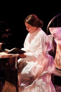 Special to the DailyPaige Lynn Larson stars as Emily Dickinson in 'The Belle of Amherst,' coming to Breck tonight through Oct. 6. The Tony award-winning play by William Luce delves deep into the life of the reclusive poet.