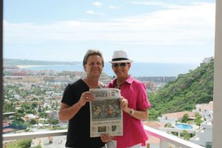 Special to the DailyMark and Judy Anderson enjoy the warm sunshine in Los Cabos, Mexico, with