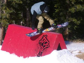 Special to the Daily/Dustin Schaefer, Loveland SkiJibbers enjoyed the terrain features at Loveland Ski Area's opening day on Tuesday.
