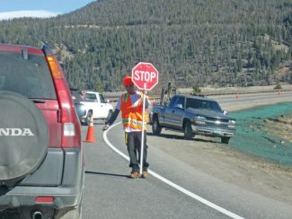 Summit Daily/Caddie NathA project installing fiber optic cables to connect stop lights along local highways temporarily moved into traffic Wednesday, causing a lane closure and delays on Highway 9 between Frisco and Summit High School.