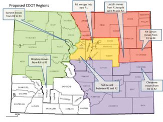 Special to the Daily/Colorado Department of TranspA proposed change in the Colorado Department of Transportation planning regions would move Summit County from Region 1 to Region 3.
