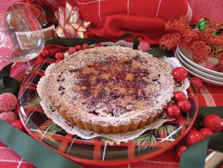Special to the DailyCranberry tart with a Linzer crust