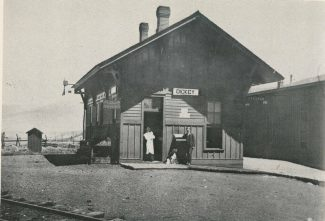 Special to the Daily/Courtesy of Bob SchoppeThe former town of Dickey was once an important coal and switching station. This picture of the train station was taken circa 1900.