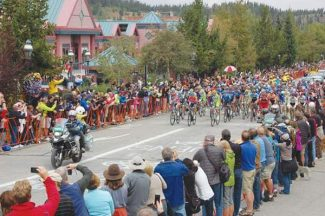 Daily file photoRiders make their way down Breckenridge Main Street during the 2012 USA Pro Challenge. Breck will host the Stage 2 finish and Stage 3 start of the seven-day Pro Challenge in August 2013, race organizers announced Wednesday.