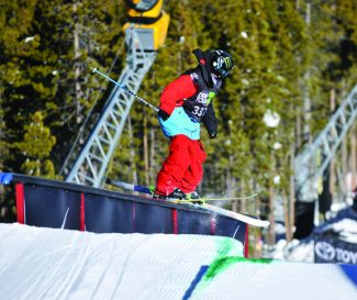 Special to the Daily/Alli SportsFreeski athlete Tom Wallisch grinds a rail during the 2011 Dew Tour stop in Breckenridge. Wallisch took the gold, but this year, Nick Goepper wants to give him a run for his money.