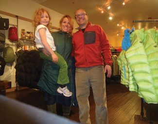 Special to the DailyJennifer and Pete Meltzer along with their daughter, Ella, at their store, The Mountain Goat Clothing Company, located at 117 S. Main St. in Breckenridge.